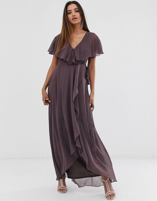 Dusty purple bridesmaid dress