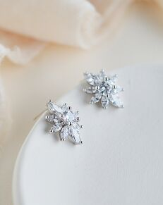 Dareth Colburn Alessia CZ Floral Studs (JE-4199) Wedding Earring photo