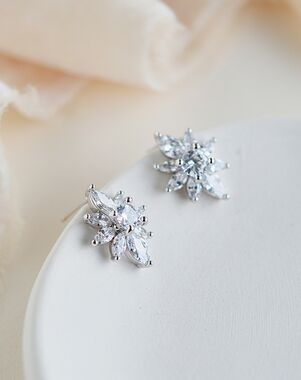 Dareth Colburn Alessia CZ Floral Studs (JE-4199) Wedding Earring photo