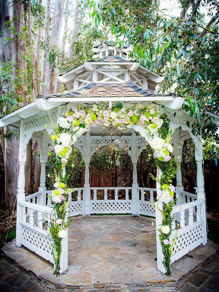 19 ideas for an outdoor wedding arbor romantic outdoor wedding space with a gazebo decorated arch junglespirit