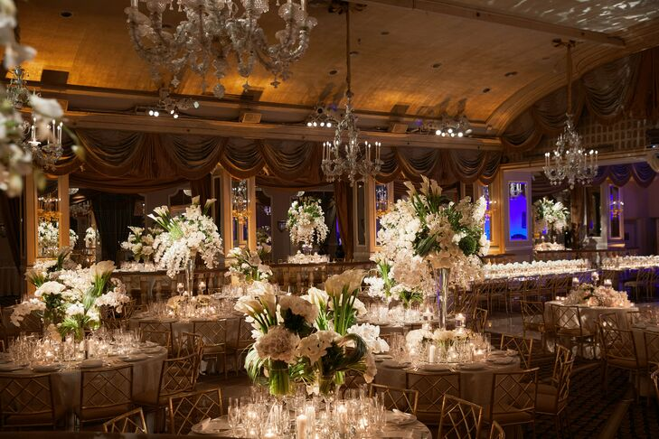 Glam Ballroom Wedding Reception at The Pierre in New York City