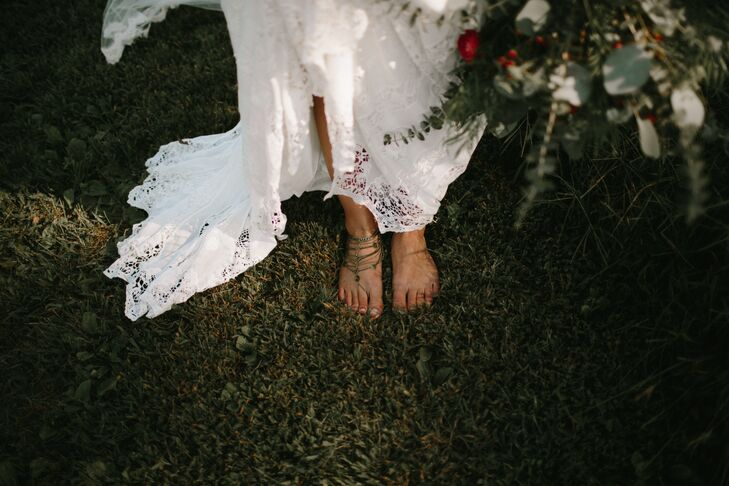 Barefoot Bride with Foot Jewelry