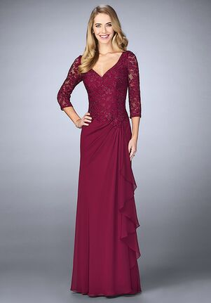 La Femme Evening 24857 Red Mother Of The Bride Dress