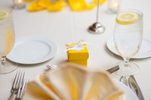 Yellow Box Candy Wedding Favors