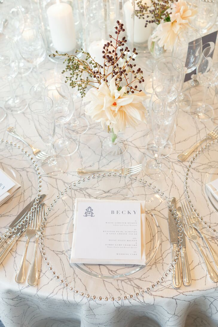 Silver-and-White Place Settings at Hay-Adams Hotel in Washington, DC