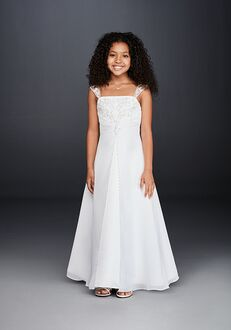 David's Bridal Flower Girl David's Bridal Style FG9010 White Flower Girl Dress