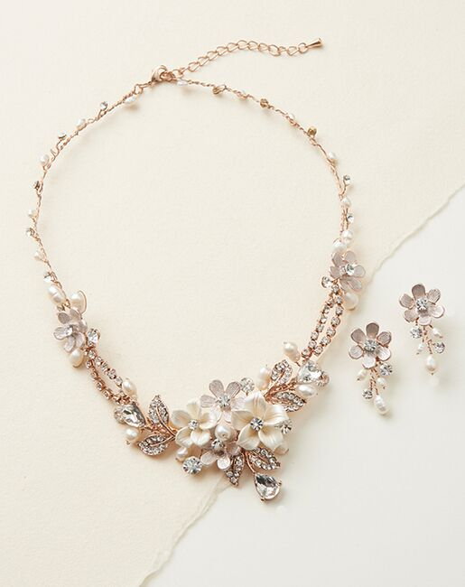 Dareth Colburn Eve Floral & Ivory Jewelry Set (JS-1661) Wedding Necklaces photo
