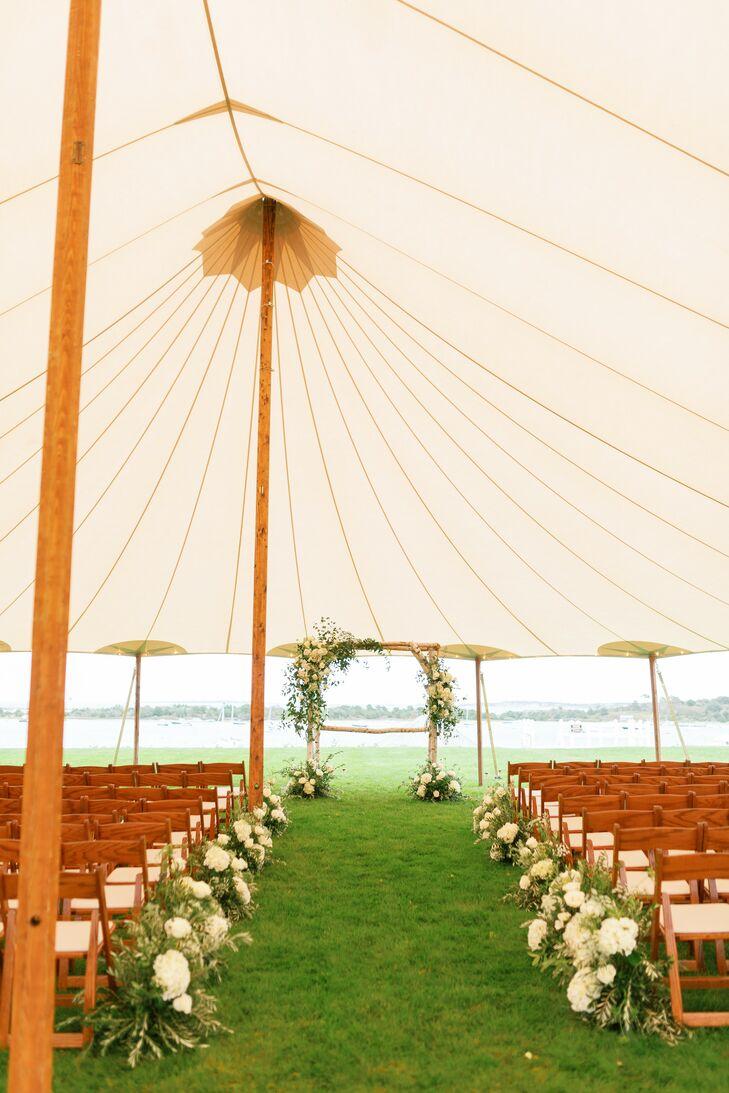 Tented Ceremony Setup at Martha's Vineyard
