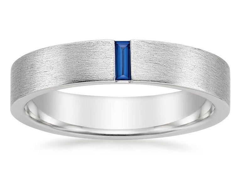 Brilliant Earth Apollo sapphire platinum wedding ring