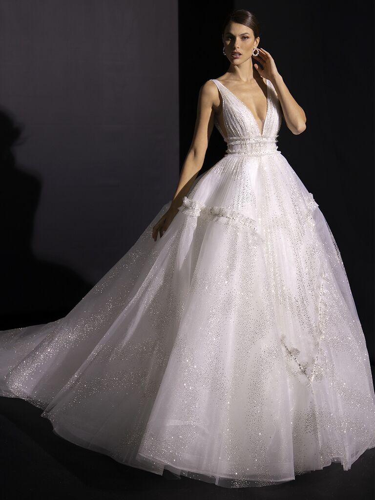 Valentini Spose Fall 2020 collection ballgown sleeveless glitter