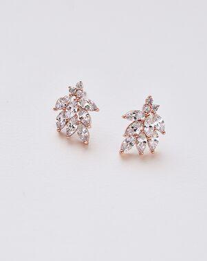 Dareth Colburn Mia Floral CZ Earrings (JE-7057) Wedding Earring photo