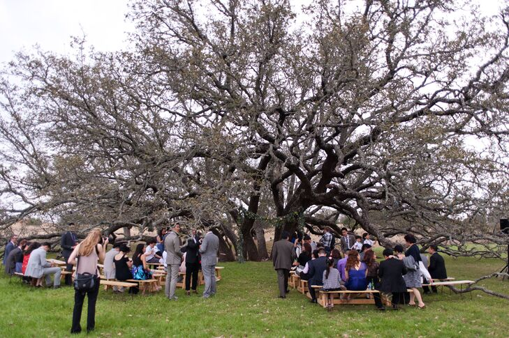 Outdoor Ranch Ceremony at Eleven Oaks in Texas