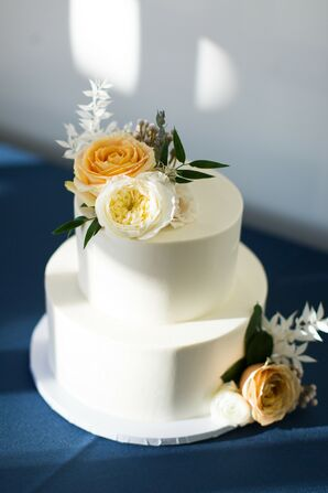 Simple Cake for Wedding at The Ivory Oak in Wimberley, Texas