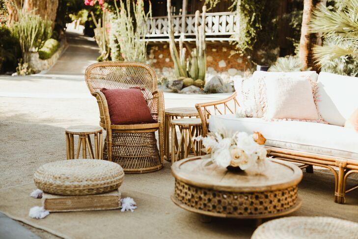 Bohemian Lounge Area with Rattan Furniture