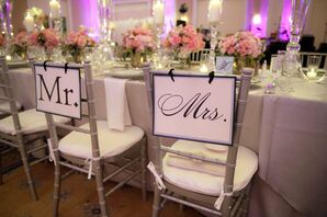 Personalized Reception Chair Decor