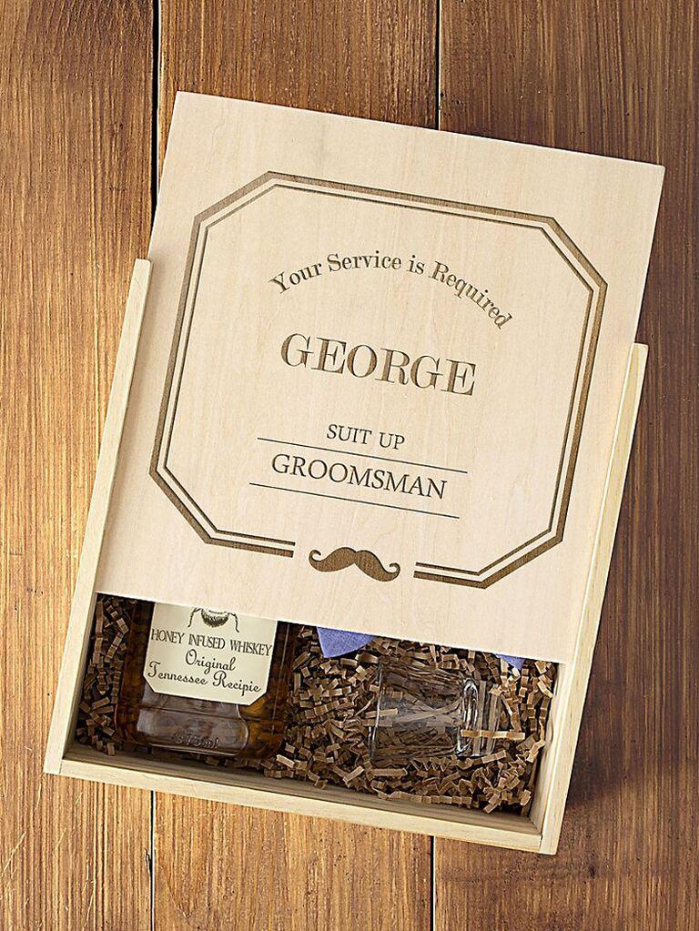 Personalized groomsmen proposal box