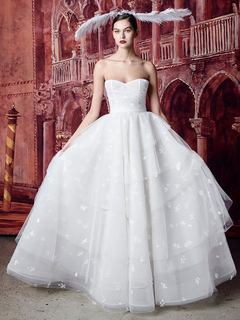 Isabelle Armstrong ballgown with tiered skirt