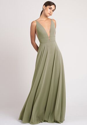 Jenny Yoo Collection (Maids) Hollis V-Neck Bridesmaid Dress