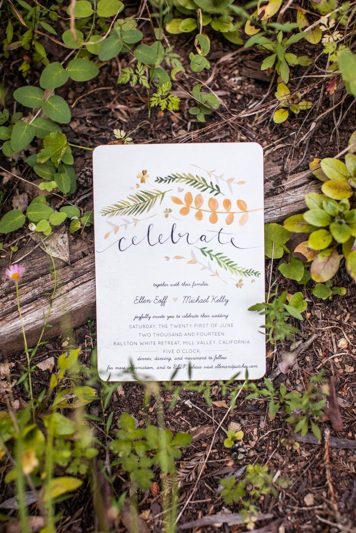 Whimsical Fern Minted.com Wedding Invitations