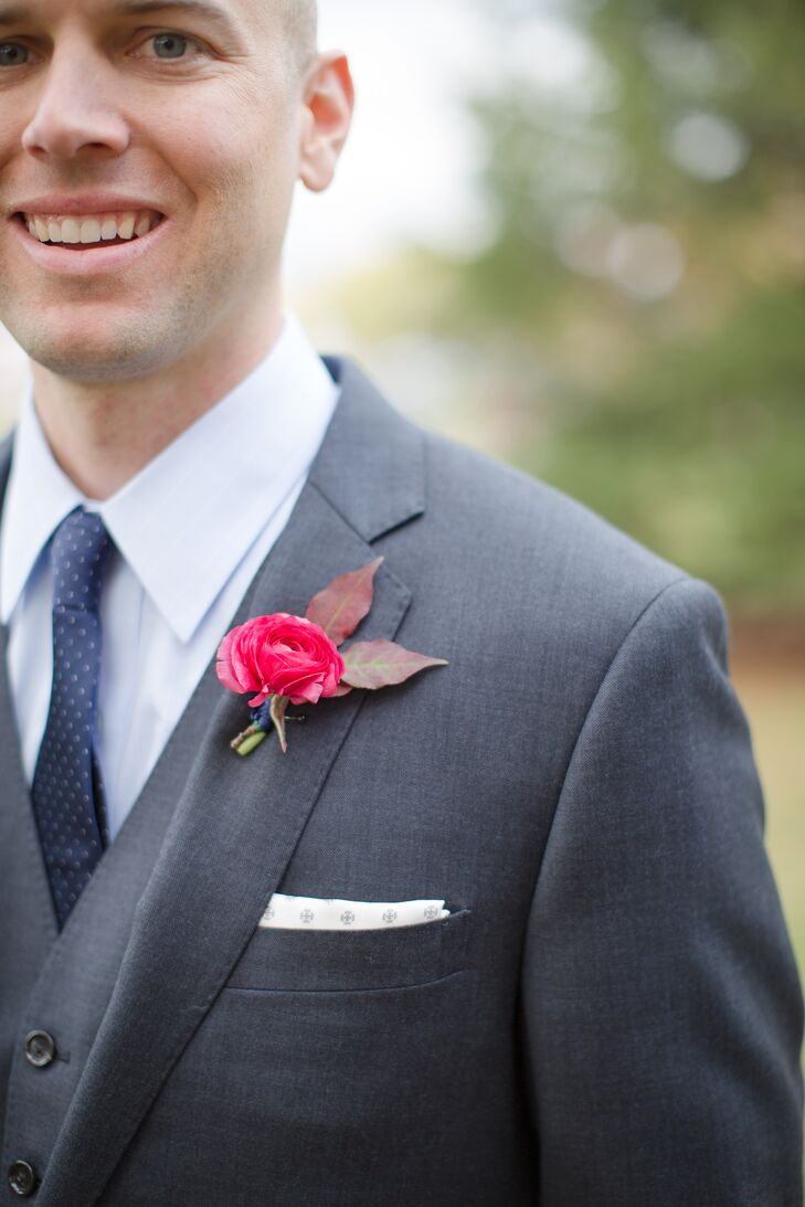 Red Ranunculus Boutonniere