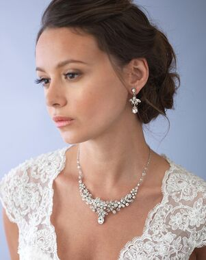 Dareth Colburn Nicolette Swarovski Crystal Jewelry Set (JS-1655) Wedding Necklace photo
