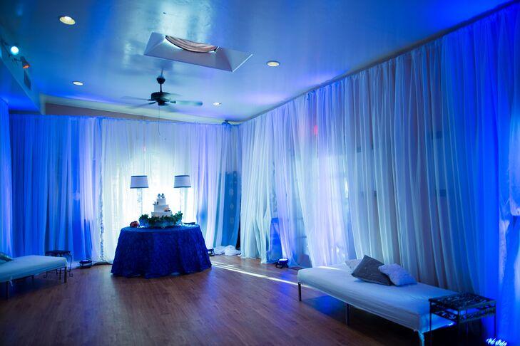 Blue Nightclub-Inspired Reception Dance Room