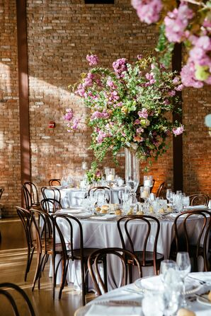 Tall Cherry Blossom Centerpieces
