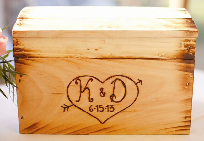 custom wooden wedding card box