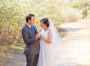Although the bustling urban area was just miles away, this vintage wedding at Stafford Lake Park in Novato, California, couldn't have felt closer to n