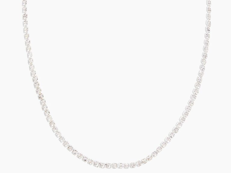 Pretty crystal collar necklace traditional 15th anniversary gift