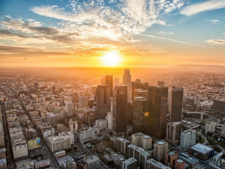 Los Angeles sunrise skyline