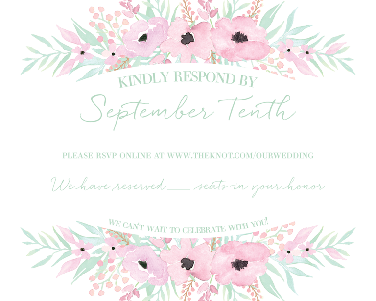 online wedding rsvp wording idea