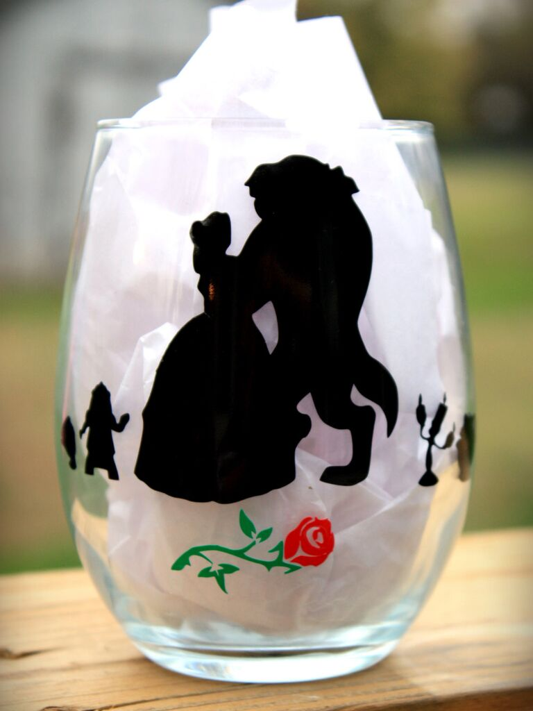 Beauty and the Beast wine glass bachelorette party Disney