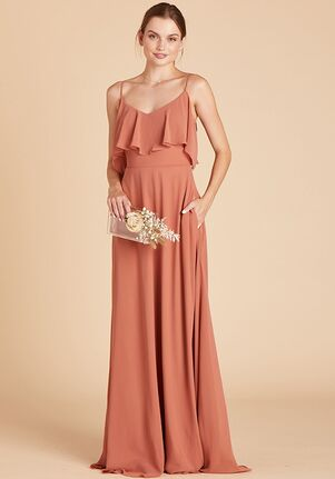 Birdy Grey Jane Convertible Dress in Terracotta V-Neck Bridesmaid Dress