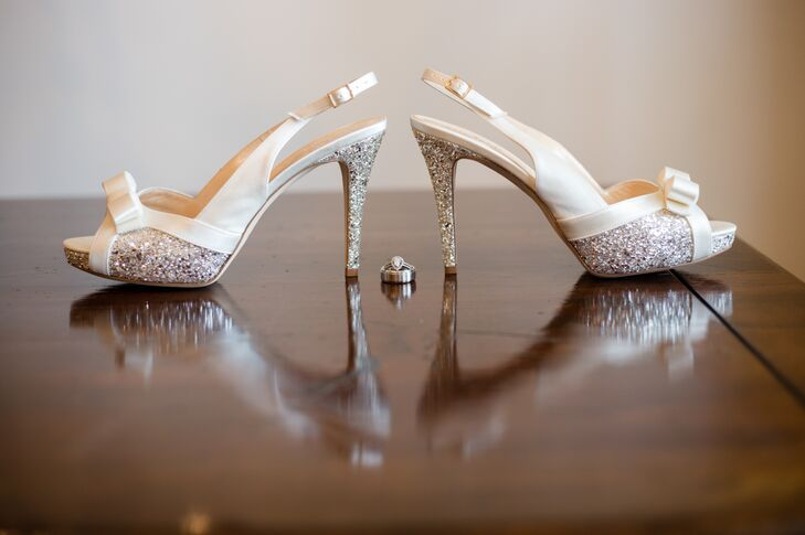 Glam Sling-Back Bridal Heels
