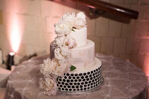 Black, Blush and White Wedding Cake
