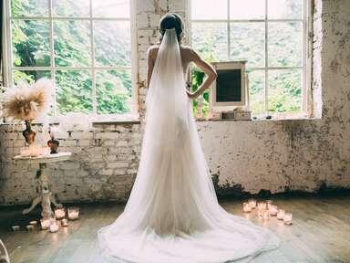 Vintage birdcage style wedding veil by Jannie Baltzer