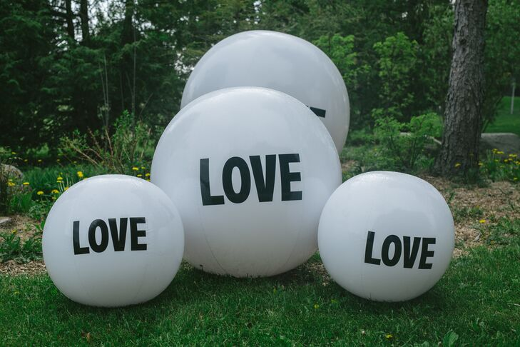 Black-and-White Love Ball Decorations