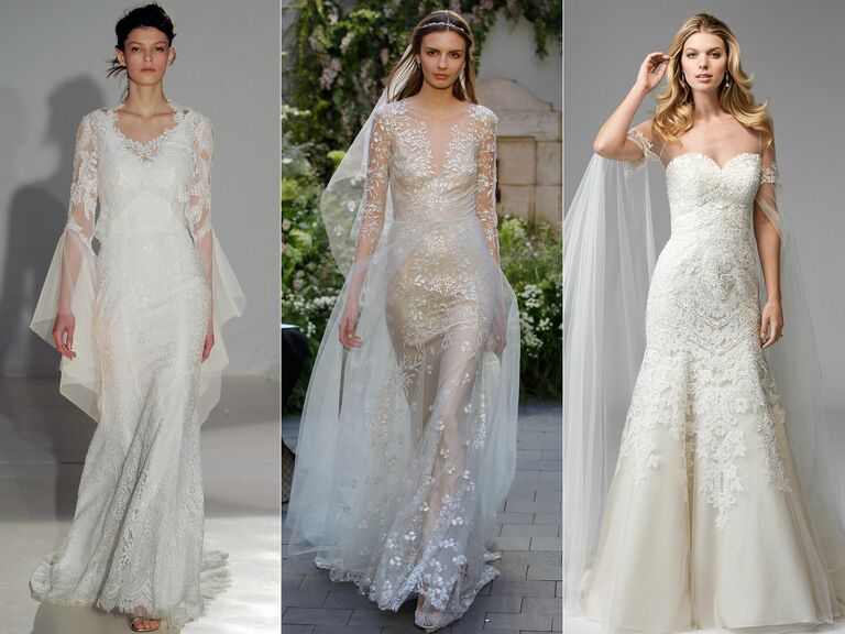 Top Wedding Dress Trends From Spring 2017 Bridal Fashion Week Watch