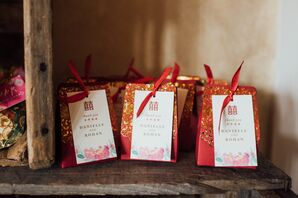 Guest Wedding Favors with Chinese Double Happiness Symbol