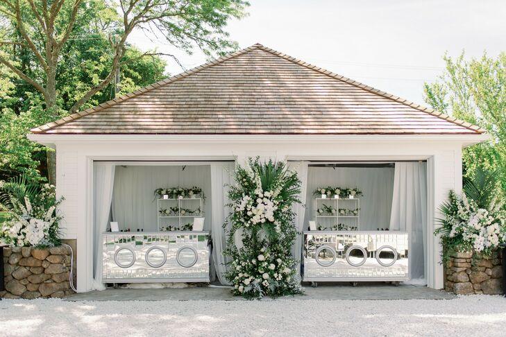 Glam Silver Bars for Wedding in Cape Cod, Massachusetts