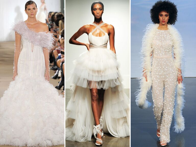 Top Wedding Dress Trends From Fall 2019 Bridal Fashion Week
