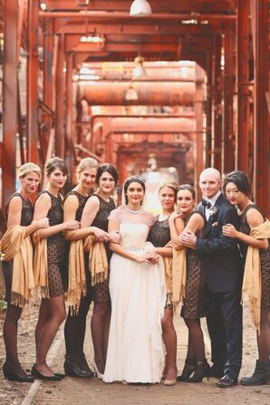 Vintage-, Industrial-Inspired Bridesmaid Dresses