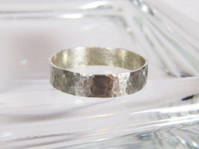 Whispering Vines sterling silver men's ring