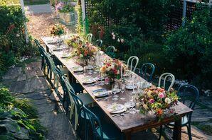 Intimate Garden Reception