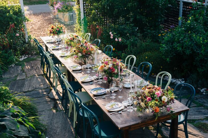 Intimate Garden Reception