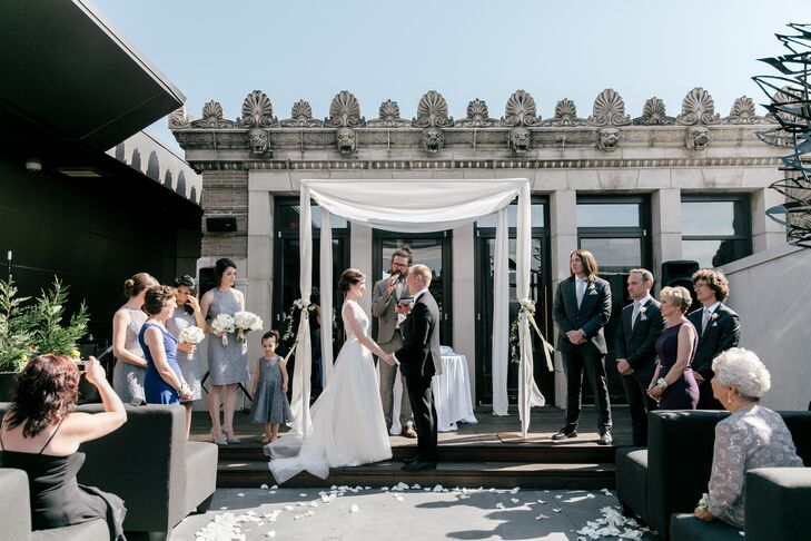 Outdoor Rooftop Ceremony