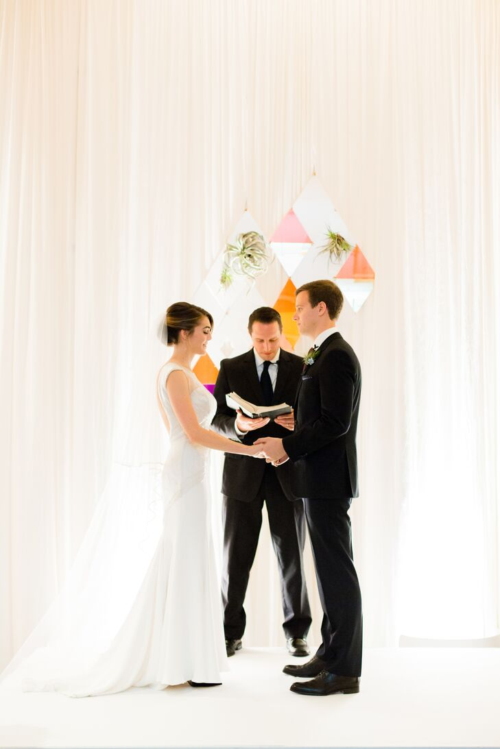 The ceremony took place in a portion of the St. Julien's ballroom.