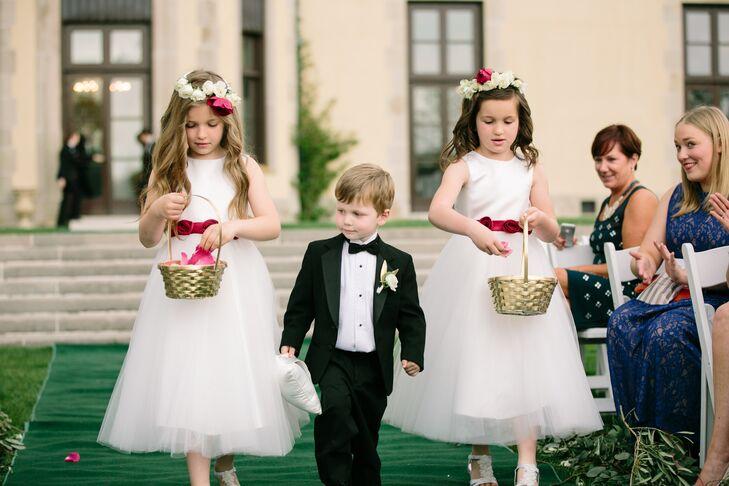 Flower Girl And Ring Bearer Attire,Long Sleeve Sherri Hill Wedding Dresses