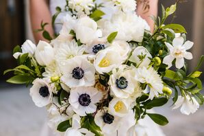 Jackson Durham created the floral bouquet for the bride and bridesmaids